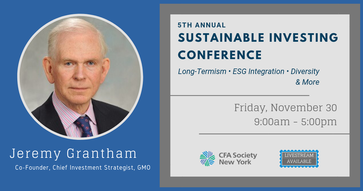 5th Annual Sustainable Investing Conference » CFA Society